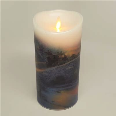 luminara christmas tree strand candles luminara kinkade series quot the spirit of quot flameless led candle indoor
