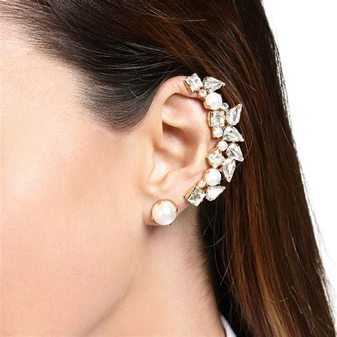 stud earrings in silver black gold mimco