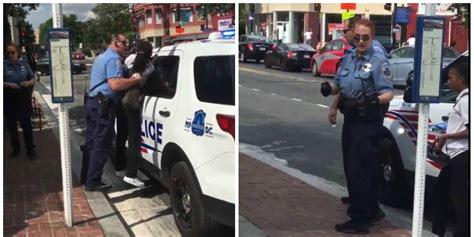 Dc Arrest Records Washington D C Incident Goes Viral After Shows Officer Holding
