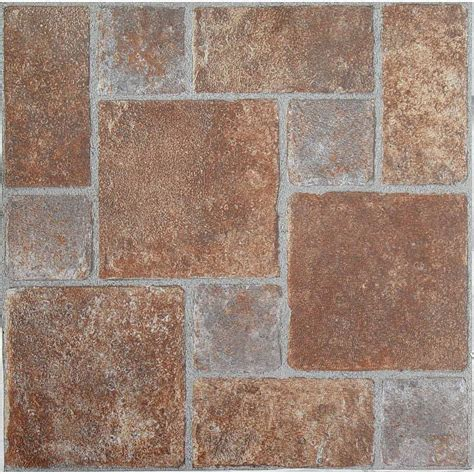 Stick On Backsplash Tiles by Red Brick Vinyl Floor Tiles Ourcozycatcottage Com
