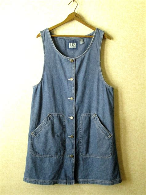 Overall Jumper Overall Jumper Denim Dress Vintage 80s 90s Jean By