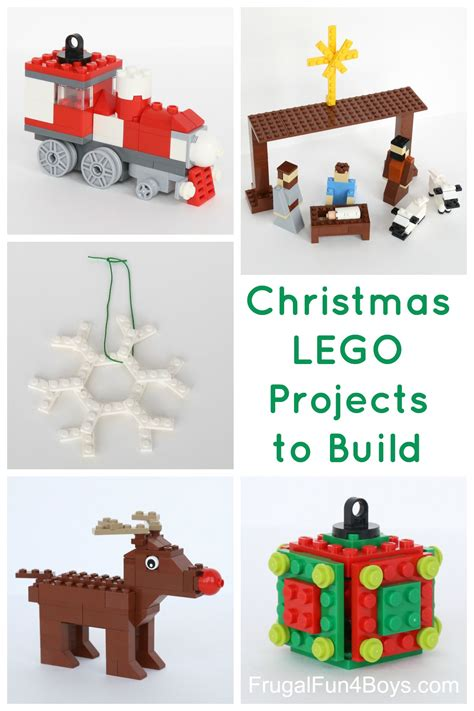 Train Christmas Ornaments - five more christmas lego projects to build with instructions