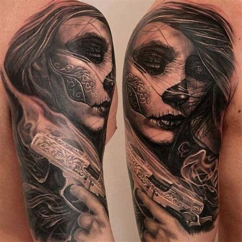 day of the dead tattoo sleeve 166 best day of the dead tattoos