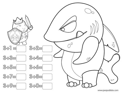 Addition Coloring Page free coloring pages of addition facts