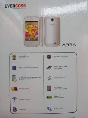 Spesifikasi Dan Handphone Zu harga dan spesifikasi evercoss a33a handphone android 300