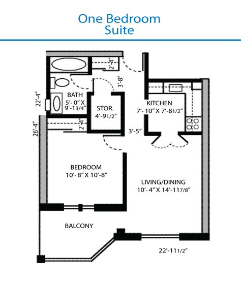 Bed Floor Plan by Floor Plan Of The One Bedroom Suite Quinte Living Centre