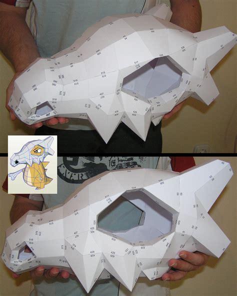 Skull Mask Papercraft - pepakura cubone skull helmet by distressfasirt on deviantart
