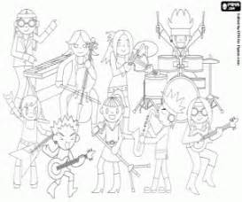 The Rock Band During Concert Coloring Page sketch template