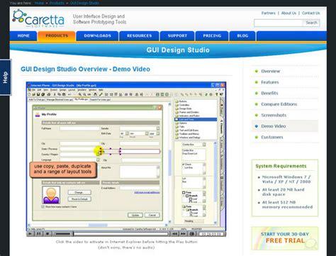 visio gui design visio vista user interface