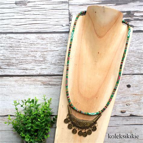 Kalung Tenun Etnik kalung tenun anantari hijau koleksikikie
