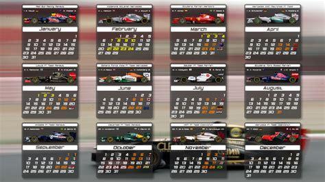 F1 Calendar For F1 2012 Calendar By Pieczaro On Deviantart