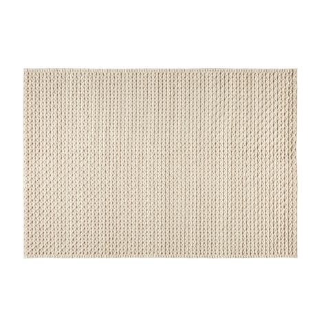 teppich wolle teppich aus wolle und baumwolle ecrufarben 140x200cm