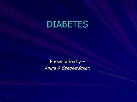 Diabetes Mellitus Authorstream Diabetes Powerpoint Template