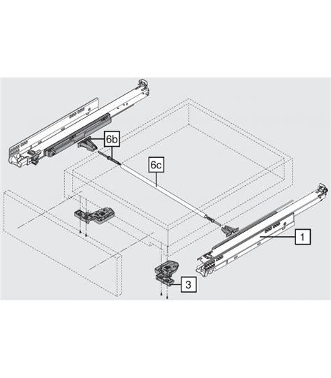 guide per cassetti blum guida cassetto legno blum movento con tip on a coppie