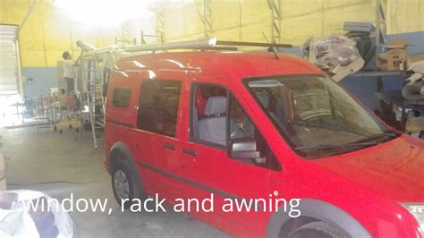 ford transit connect awning red hot ford transit connect cer conversion window and