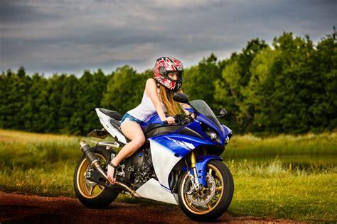 girl riding motorcycle stock photo  people stock photo