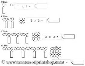 square chain worksheets printable montessori math materials