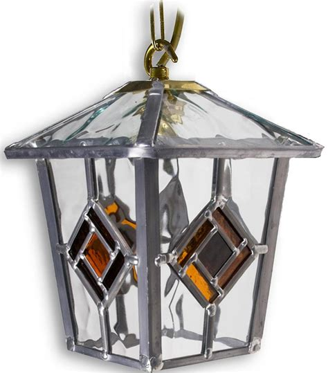 Handmade Outdoor Lighting - buxton handmade leaded glass hanging outdoor porch