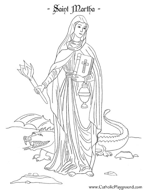 Martha Mary And Lazarus Colouring Pages Sketch Coloring Page And Martha Coloring Page