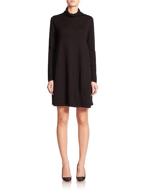 Sweater Dress Ii by Armani Wool Sweater Dress In Black Lyst