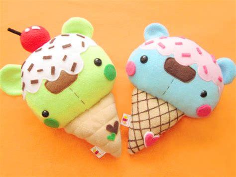bear ice cream kawaii crafts diy on pinterest diy sweets and plushies