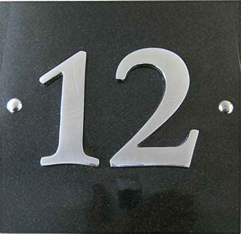 large house numbers large black granite chrome house number plaque 1 to 99 available at shop ireland