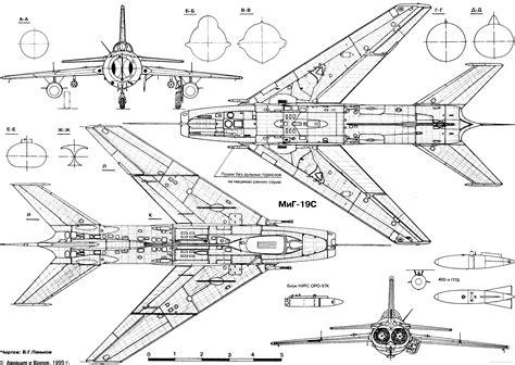 blueprints online mikoyan gurevich mig 19