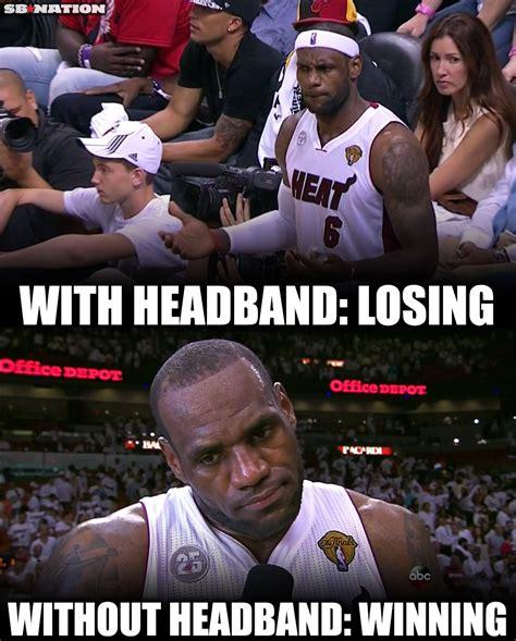 Lebron Headband Meme - the lebron james headband game sbnation com