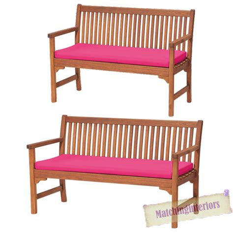 pink bench cushion pink 2 or 3 seat bench swing garden seat pad home floor