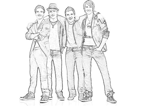 big time rush coloring pages for print and color