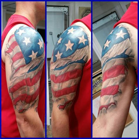 american flag shoulder tattoos 50 independent patriotic american flag designs i