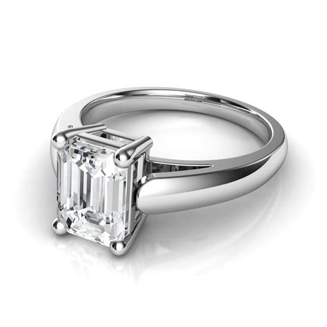 emerald cut solitaire engagement rings archives
