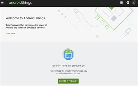 developer android console android things console overview android things android