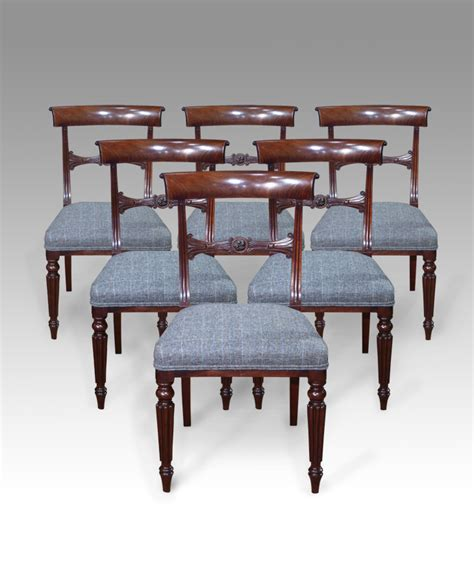 set of 6 dining chairs antique dining chairs georgian