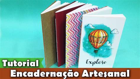 tutorial como fazer sketchbook diy encaderna 231 227 o artesanal costurada pap tutorial