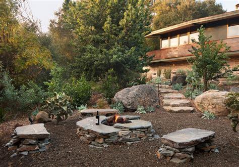 pebbles backyard 20 stone patio outdoor designs decorating ideas design trends premium psd