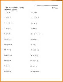 7 distributive property algebra math cover