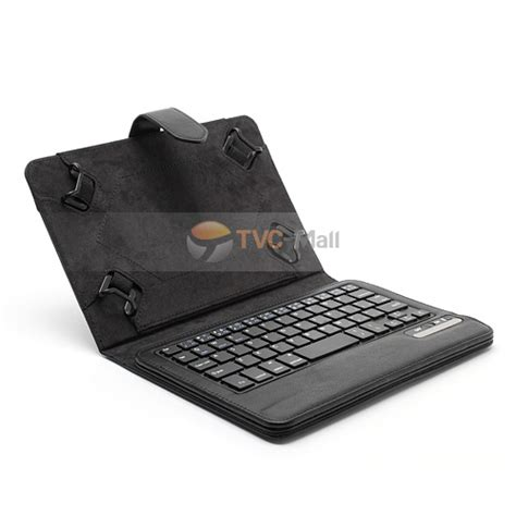 Keyboard Komputer Elastis universal 7 inch 8 inch tablet pc bluetooth keyboard leather cover w elastic frame