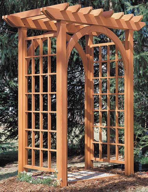 arbor trellis plans pergolas and arbors free plans the woodworker s bible