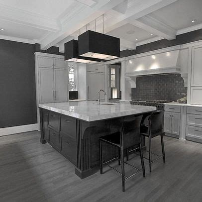 Grey Wood Floors Kitchen Gray Floor White Baseboards And Gray Walls On