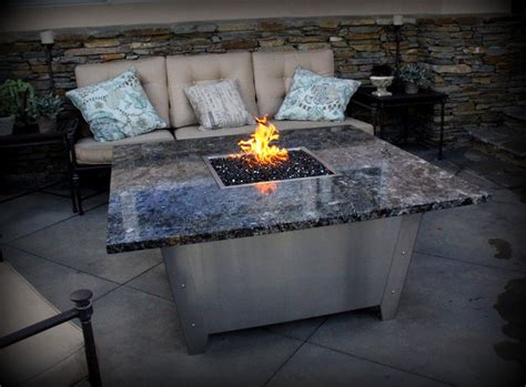 patio fireplace table newport pit tables eclectic patio los angeles