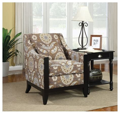 Paisley Living Room Furniture by Quot Coaster Accent Chair Country Paisley Quot Modern Living