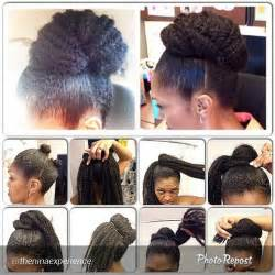 hair peice for making buns to grow out hair marley hair bun protective style natural hair pinterest