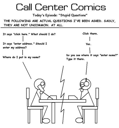 call center comics stupid questions images frompo