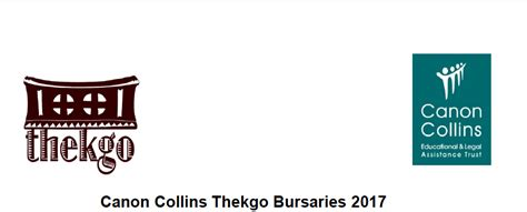 Mba Bursaries 2017 South Africa by Canon Collins Thekgo Undergraduate Postgraduate