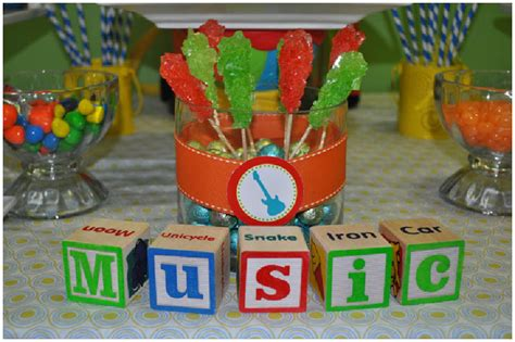 music themes for parties music themed 1st birthday party pizzazzerie