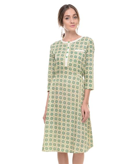 design dress cotton buy women s designer pure cotton printed dress online