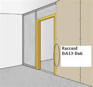 poser 1 bloc porte dans une cloison sur rails metalliques