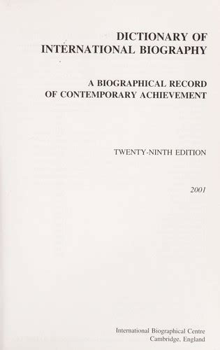 international association of biography and autobiography dictionary of international biography dictionary of