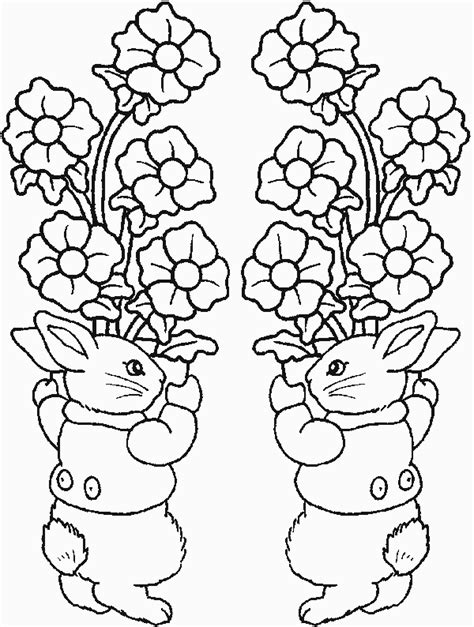 ivy s coloring book easter bunnies